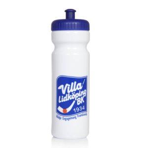 villa vattenflaska vit och bl